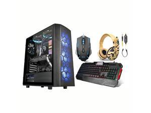 PRC Gamer Supreme Liquid Cool Gaming Desktop PC AMD Ryzen 7 3700x 8-Core 3.6GHz 16GB DDR4-3000 RGB RAM NVIDIA GeForce RTX 2070 8GB GDDR6 1200Mbps WiFi 1TB NVMe SSD W10P