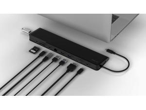Juiced Systems ChockDOCK v2 - Universal USB-C Laptop Docking Station - 1x USB-C Power Delivery   1x USB-C 3.1 Gen 2 Data Port   1x USB 3.1 Gen 2 Port   2X USB 3.0 Gen 1   Gigabit Ethernet   SD   AUX