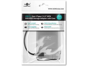 """Vantec USB 3.1 Gen 2 Type-C 2.5"""" SATA SSD/HDD Storage Adapter (CB-STC31-2PB)"""