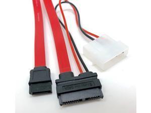 Micro Connectors, Inc. 20-inches Slimline SATA Cable (F03-162)