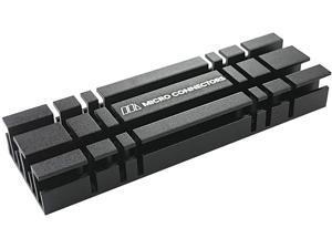 MICRO CONNECTORS M.2 2280 SSD Heat Sink Kit Cooling Black (NGFFM2-HS803-BK)