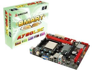 Biostar Socket AM3/AMD 760G/DDR3 MicroATX Motherboard A780L3C