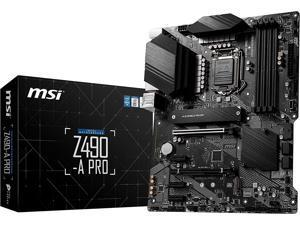 MSI Z490-A PRO ProSeries ATX Motherboard (10th Gen Intel Core, LGA 1200 Socket, DDR4, Dual M.2 Slots, USB 3.2 Gen 2, 2.5G LAN, DP/HDMI)