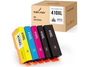 SAILNER  Ink Cartridge Replacement for Epson 410XL 410 XL use with Expression Premium XP-640 XP-830 XP-7100 XP-630 XP-530 XP-635 (Black, Photo Black, Cyan, Magenta, Yellow, 5 Pack)