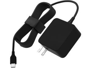 AC Charger for Samsung Chromebook Plus XE513C24 XE513C24-K01US/Chromebook Plus V2 XE520QAB-K01US XE520QAB-K02US XE520QAB-K03US with 7.5Ft Power Supply Adapter Cord