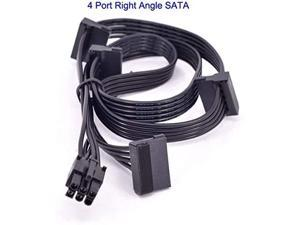 Computer Cables PCIe 6Pin Male to 2/3 / 4 SATA Power Supply Cable for Seasonic Focus Plus Platinum Focus+ Series 850PX 750PX 650PX 550PX PSU - (Cable Length 6Pin to 4 SATA)