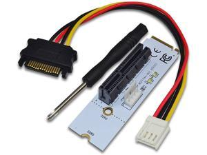 BGNing NGFF M2 to PCI-e 4X 1X Slot Riser Card M Key M.2 2260 2280 SSD Port to PCIE Adapter Converter Multiplier for BTC Miner Mining