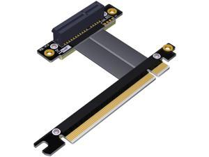 ADT-Link PCIe 3.0 X4 X8 Riser Extender for Gigabit Network Card Industrial SSD Pci-e 3.0 X4 X8 to X16 Extension PCI-Express 3.0 Cable (20cm,R32SF)