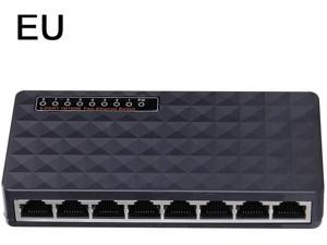 JosLove 8-Port Gigabit POE Switch 1 Gigabit + 1 Gigabit Fiber Port