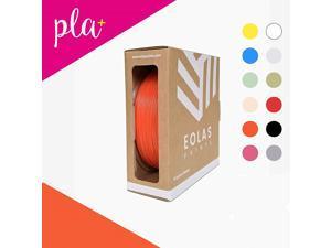 EOLAS PRINTS Premium PLA+ 3D Printer Filament 1.75 mm, Dimensional Accuracy +/- 0.03 mm, 1 kg (2.2 lb) ABS Spool with Resealable Bag