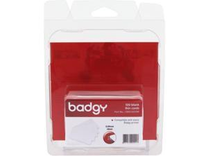 Evolis Badgy Thin PVC Plastic Cards - Printable - 100 - Polyvinyl Chloride (PVC)