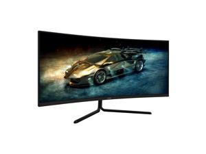 VIOTEK GNV34DB 34-Inch Ultrawide Gaming Monitor, Curved 1500R UWQHD VA Panel  100Hz 1440p Monitor Resolution  FreeSync FPS/RTS  3 HDMI Ports DP 3.5mm Aux