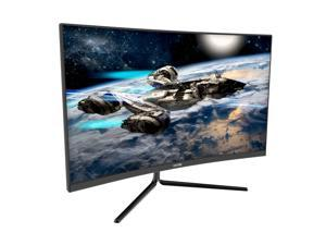 VIOTEK GNV27DB 27-Inch Curved QHD Gaming Monitor  144Hz 2560x1440p 4.8ms (OD)  1500R Curvature,  FreeSync  DP, 3x HDMI, 3.5mm  3-Year Warranty