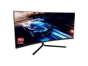 VIOTEK GNV34DBE 34-Inch Curved Gaming Monitor  144Hz UWQHD  2x HDMI 2.0, 2x DisplayPort 1.4, 3.5mm FreeSync  3-Yr Warranty