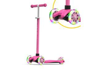 K5 3-Wheel Kids Scooter with Light-Up Wheels | Quick Assembly | ASTM-Certified | Height-Adjustable for Boys or Girls ages 3+