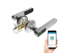 TURBOLOCK TL88 App-Enabled Fingerprint Door Lock with Bluetooth – Share eKeys and Store up to 20 Fingerprints w/ 360-Degree Sensor and Auto-Lock for a Truly Key-Free Security Experience (IP65)