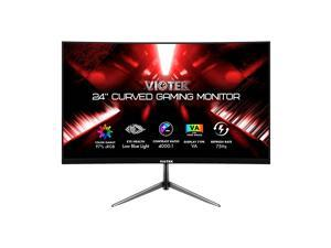 VIOTEK NBV24CB2 24-Inch Curved Monitor, 75 Hz Full-HD Frameless Monitor for Home, Office & Gaming | VGA, HDMI, 3.5mm | Adaptive Sync w/ Superior Dead Pixel Policy + 3Yr Performance Promise