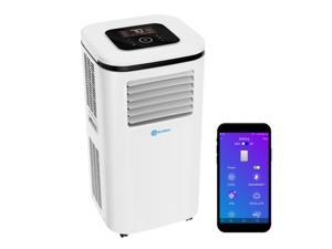 ROLLICOOL 14000 BTU Smart Portable Air Conditioner, Dehumidifier & Fan for Rooms up to 375 sq ft | Alexa-Ready Voice Commands, App, Dual-Band WiFi Support, Bluetooth — Smooth 360 Caster Wheels & Easy