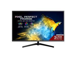 VIOTEK FI32DB 32-Inch IPS QHD Monitor 75Hz—Ultra-Slim Design 1440p 10-Bit 1.07G Displayable Colors & Ultra-Vivid Mode, FreeSync/G-Sync, HDMI DP mini-DP VGA 3.5mm—3 Years Zero Dead Pixels