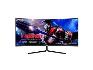 VIOTEK GNV34DBE2 34-Inch UWQHD 144Hz Multimedia Gaming Monitor, Ultrawide 21:9 3440x1440p, Low Lag 1ms MPRT, FreeSync & G-Sync-Ready, HDR, 4000:1, 2X DP 2X HDMI 1x Audio Out (VESA)