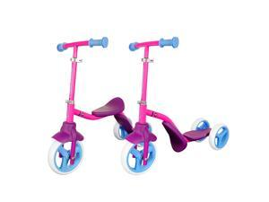 K2 Kids 3 Wheel 2 In 1 Balance Bike And Scooter - Easily Transform, 2 Riding Modes with Adjustable Stem & Durable Frame
