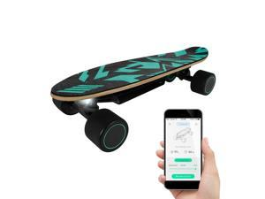 SWAGTRON Spectra Mini Electric Skateboard – Cruiser Skateboard with App, 5.6 MI per Charge, 9.3 MPH, Fast Charging Remote Control Skateboard