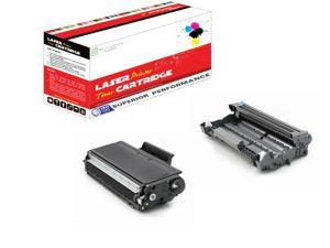 2PK TN580 Toner Cartridge+1PK DR520 Drum For Brother DCP-8060 8065 8085
