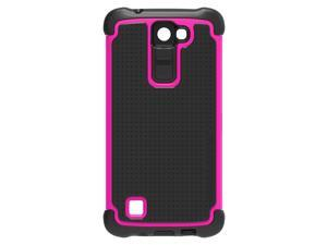 Ballistic TJ1696-A19N Tough Jacket Case for LG K8 (2016) - Black/Hot Pink