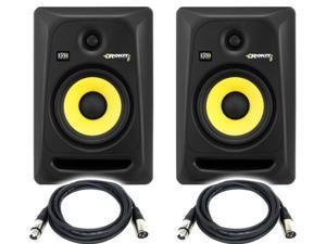 KRK RP6G3-NA Rokit 6 Generation 3 Powered Studio Monitor (PAIR) / FREE XLR to XLR cables 18ft ea