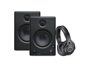 "PreSonus Eris E.45 HD 2-Way 4.5"" Nearfield Monitors, - Bundle With Audio-Technica ATH-M40x Professional Monitor Headphones, Black"