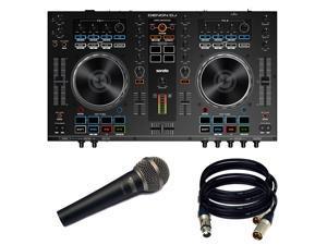 Denon DJ MC4000 2-Ch 2-Deck Serato DJ Controller - New. W/ NOVIK MIC and 2 XLR Cables.