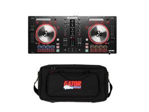 Numark Mixtrack Pro 3 All-In-One DJ Controller for Serato DJ. With Gator GK-2110 Gig Bag