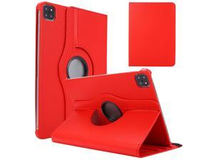 360 Degree Rotating PU Leather Tablet Stand Smart Case Cover for Apple iPad Pro 12.9 2020 Case (4th Gen.) , Apple iPad Pro 12.9 2021 Case
