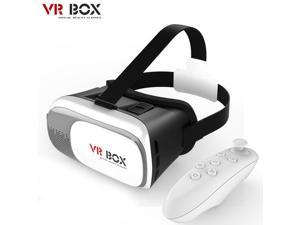 NEW VR BOX 2nd Generation Virtual Reality 3D Glasses Google Cardboard with Bluetooth Control Remote for All 4.0 - 6.0 inches iPhone Samsung LG Smartphones