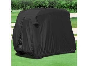 Waterproof Superior Black Golf Cart Cover Covers Compatible with Club Car, EZGO, Yamaha, Fits Most Two-Person Golf Carts