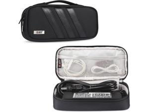 BUBM Carrying Bag for AC Adapter Travel Organizer for Laptop Charger Pouch Cover Case for Power Cord and Other Accessories Black