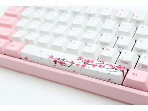 Mugen Custom Red Cherry Blossom Spacebar Keycaps for Cherry MX Switches - Fits Most Mechanical Gaming Keyboards - with Keycap Puller