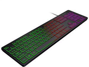 WANGJIANGLI Gaming Mechanical Keyboard with Backlight, 104 Key Ultra-Thin RGB Wired Ergonomic Keyboard Waterproof Computer Game Keyboards