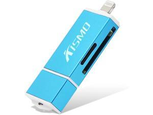 BUY-TO TF/SD Card Reader Multifunctional 3-in-1 2.0 USB for Apple iphone6S iPad4/5 128GB