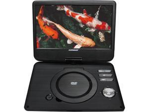 """Koramzi PDVD-1010 Portable 10"""" DVD Player with Rechargeable Battery / USB / AV Out / Headphone Jack / Remote Control (Black) - New"""