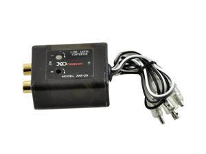 XO VISION ANF-25 Line Level Speaker To RCA Converter (Black)