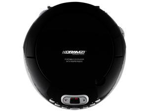 Koramzi Portable CD Boombox Sound System with Top-Loading CD Player, AM/FM Radio, and Aux Line-In-CD35