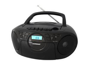 KORAMZI CD705CBK Portable CD/MP3/USB Radio Cassette Recorder (Black) - New