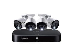 LOREX(R) DK182-48DAE 4K Ultra HD 8-Channel Security System with 2 TB DVR and Four 4K Ultra HD Bullet Security Cameras