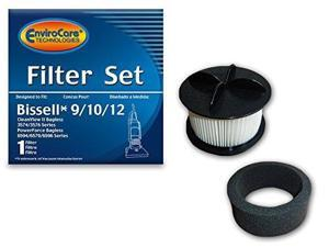 EnviroCare Replacement Vacuum Filter for Bissell 9/10/12 HEPA Pleated Micro Inne