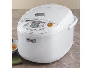 ZOJIRUSHI NS-YAC10 Pearl White Umami Micom Rice Cooker & Warmer