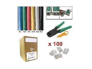1000Ft CAT5E UTP Network Cable Tester Crimper Connector