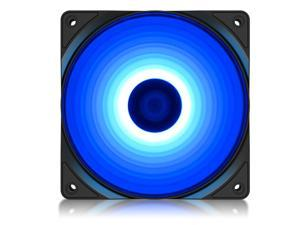 DEEPCOOL RF120 Single Color LED Fan (RF120B) - 120mm 9-Blade Blue LED Cooling Fan with 3-pin/LP4 Power Connector