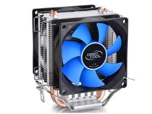 Deep Cool Frozen-Ice Mini CPU Cooler 80mm Dual Cooling Fan with Heatpipes Heatsink - Intel Socket LGA1150/LGA775, AMD FM2/FM1/AM3+/AM3/AM2+/AM2