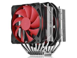 DEEPCOOL GamerStorm ASSASSIN II-CPU Cooler 120mm and 140mm PWM FDB Bearng & Rubber-Covered Fan Twin-tower Highly-polished Copper Base Metal Mounting Kit Support LGA2066